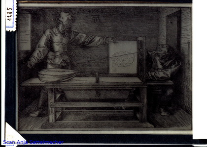 Slide: Perspective with Dürer copperplate engraving