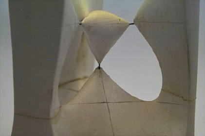 Cubic surface with 4 real conic double points