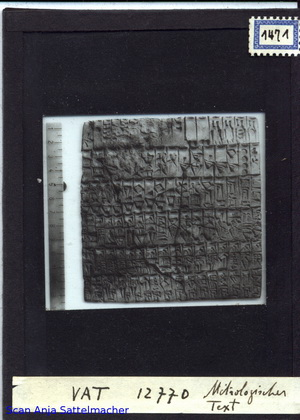 Diapositiv: Archaischer metrologischer Text