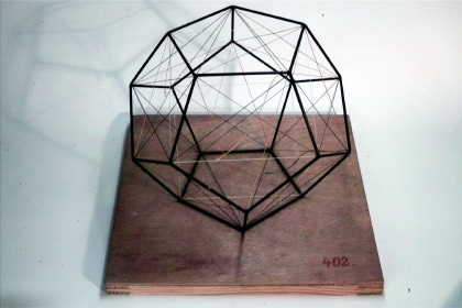 Dodecahedron with the 5 inscribed cubes