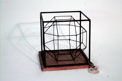 Cube with inscribed rhombicuboctahedron