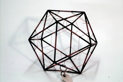 Icosahedron with inscribed truncated icosahedron