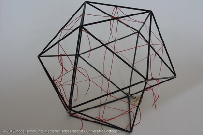 Icosahedron with inscribed icosidodecahedron