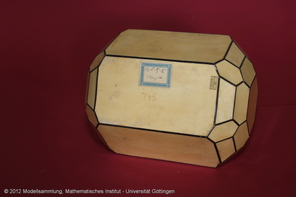 Crystal model made of cardboard