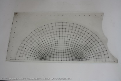 Four curve grids on glass
