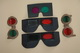 4  red-green glasses for stereoscopic vision